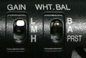 Paramétrage de la balance des blancs
