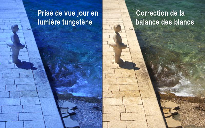 Correction de la balance des blancs