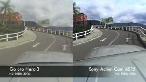 Test comparatif entre les caméras Action Cam (Sony) et Gopro.