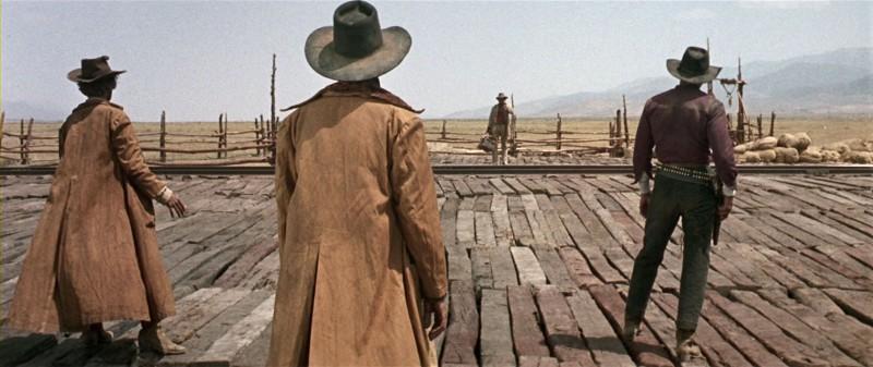 Cadrage plan large - Film Il était une fois dans l'ouest