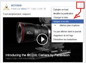 Intégrer une vidéo de Facebook dans votre site web