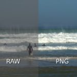 Image RAW et image PNG