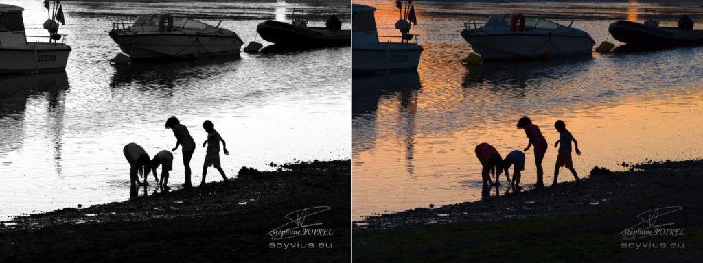 Image couleur VS image noir et blanc