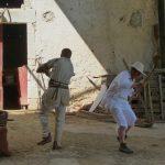 Tournage duel médiéval